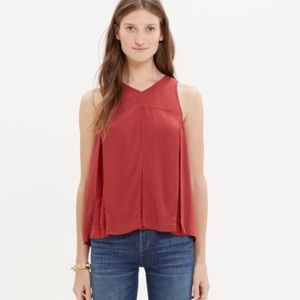 Madewell | Red Trapeze Crop Tank Top size 6
